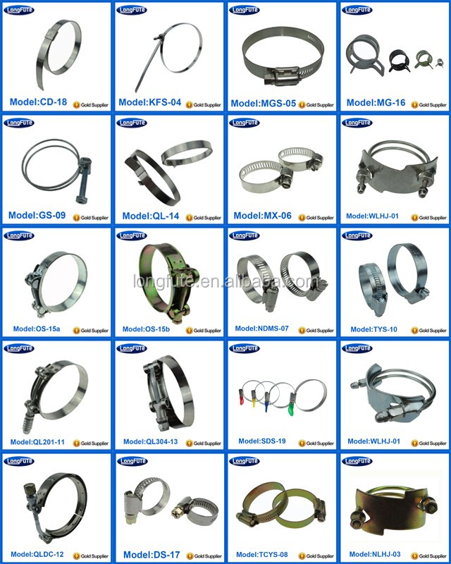 Supply Different Types Of Hose Clamps Stainless Steel Galvanized
