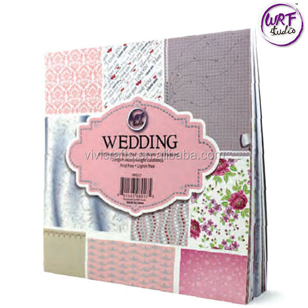 "High Quality 8"" x 8"" Love Design Pattern Paper Pad For Scrapbooking"