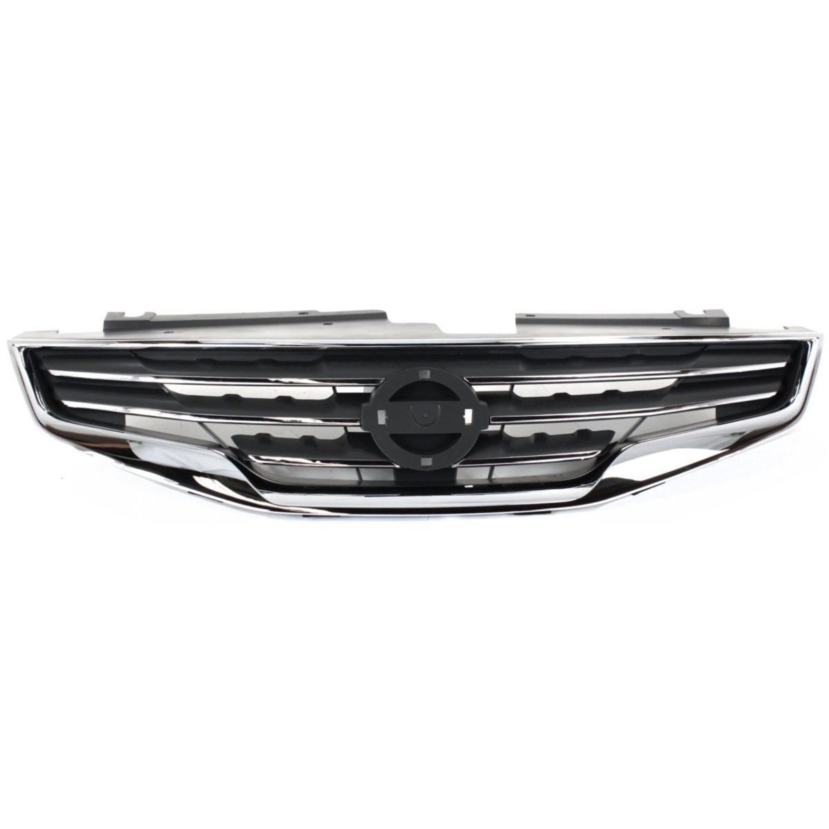 Grille Grill Assembly NI1200236 For Nissan Altima 10-12 SEDAN CHROME Shell with Black Insert