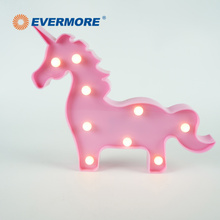EVERMORE Cartone Animato Unicorno Rosa Forma Decorazione Dell'interno Hanging Light Per I Bambini