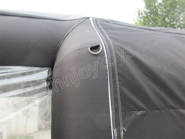 Durable black 6m long oxford cloth mobile car paint inflatable spray booth for sale