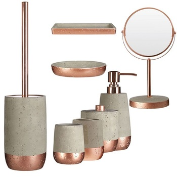 Rose Gold Hotel Decorative Cement Bathroom Accessories Sets Buy