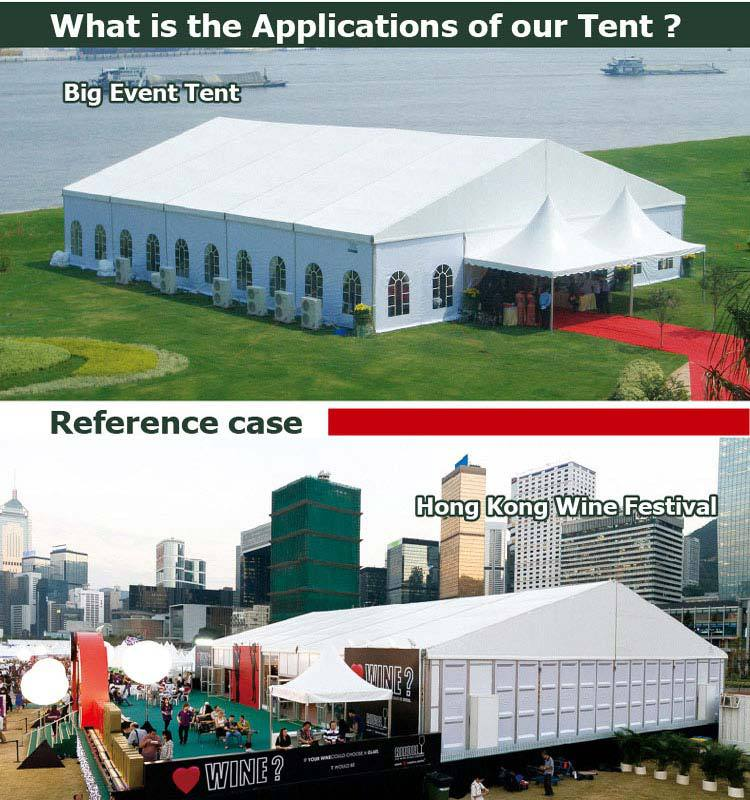 Applications of Our event center tent & 500people big tents large event center tent for outdoor event party ...