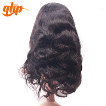 QHP 100% virgin peruvian body wave hair wholesale cheap human hair full lace wig