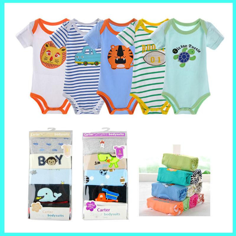Wholesale 5 Pack Carter Bodysuit Carters Baby Romper