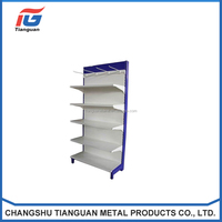 Tianguan manufact adjustable metal shelving units with wheels