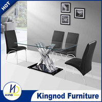 4 seaters metal kitchen table and chair dining set