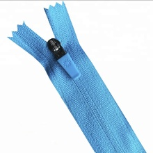 3 # reverse <span class=keywords><strong>onzichtbare</strong></span> nylon <span class=keywords><strong>rits</strong></span> met semi auto lock slider rubber puller