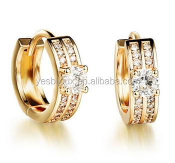 9583260e98ebe Bulk Sale Gold Color Plated Gold Cuff Hoop Earrings - Buy Thick Hoop  Earrings,Bulk Hoop Earrings,24k Gold Hoop Earrings Product on Alibaba.com