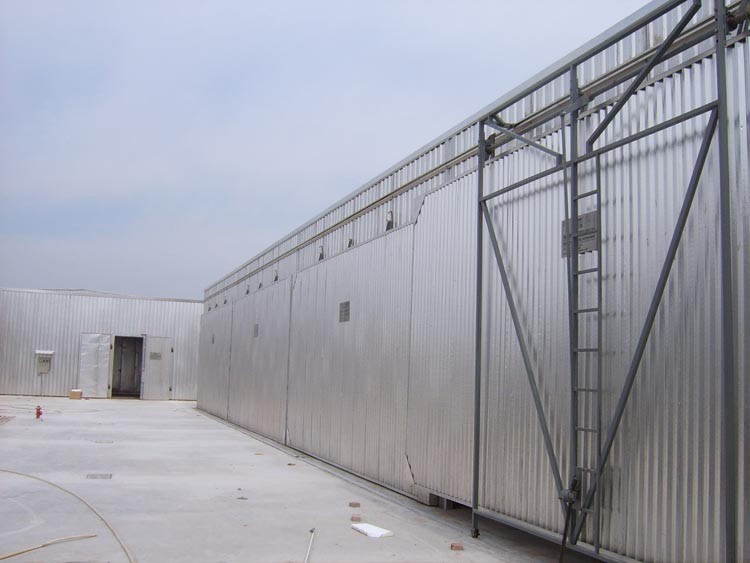 High Frequency timber drying kiln