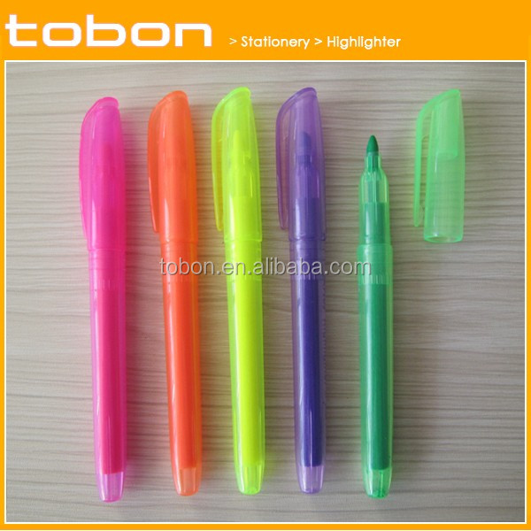 office and school promotion highlighter fluorescent marker pen