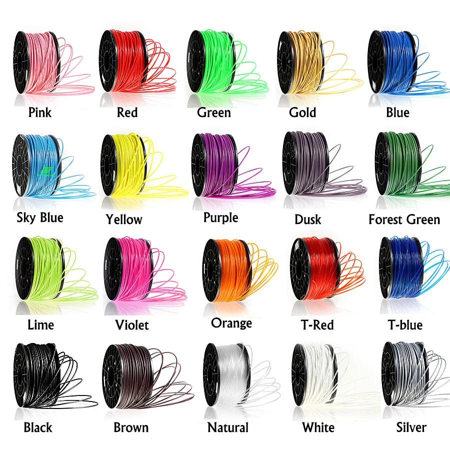 Multicolor Pla 1.75mm Filament,Plastic 3mm 3d Printer Abs