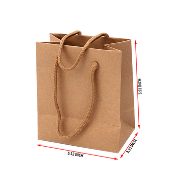 Famous OEM accepted paper wedding branded gift food craft bag custom brown shopping kraft paper bag