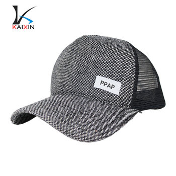 2d1d689ec8c43 5 Panel Adjust Distressed Blank Trucker Mesh Hemp Hat Wholesale ...