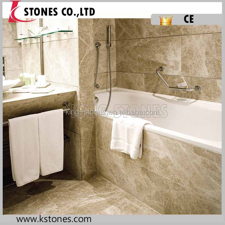 European Style Light Emperador Chinese Marble Floor Tiles