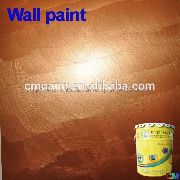 Intérieur Peinture Non Toxique Metallic Effet Or