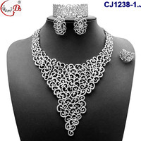 Nigeran Style Light Gold Necklace lady set 2016 best selling Beautiful fmailry party Jewelry Set