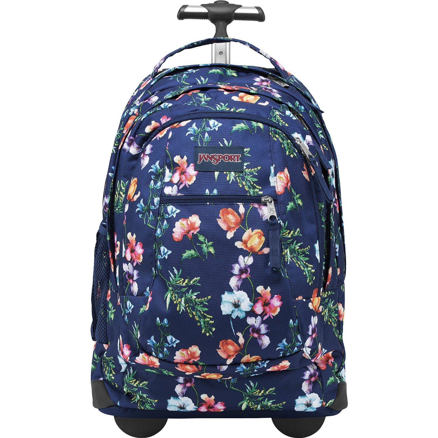 48167d7832241 Get Quotations · JanSport Driver 8 Rolling Backpack with Wheels (Multi Navy  Mountain Meadow)