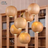 European Style Decorative Wooden Pendant Lights Vintage Lighting Wood Beaded Chandelier