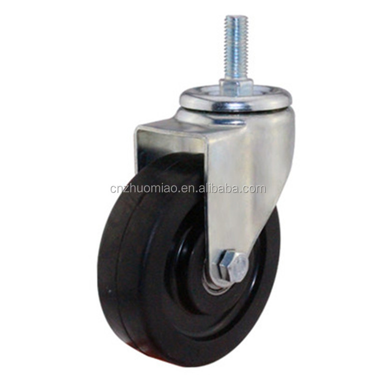 High quality trolley esd caster wheels 3 inch 4 inch 5 inch rubber caster