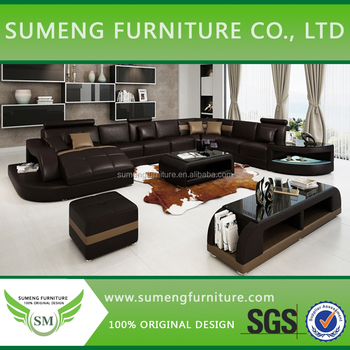 Factory Price New Styles Latest Sofa Designs Nice Design With Led Light Coffee