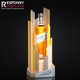 High end customized acrylic single wine bottle display stand with LED light
