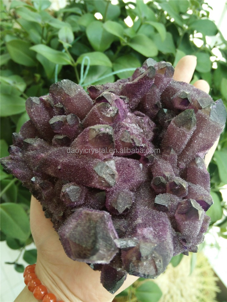 Wholesale very purple natural amethyst cluster gemstone decoration crystal mineral