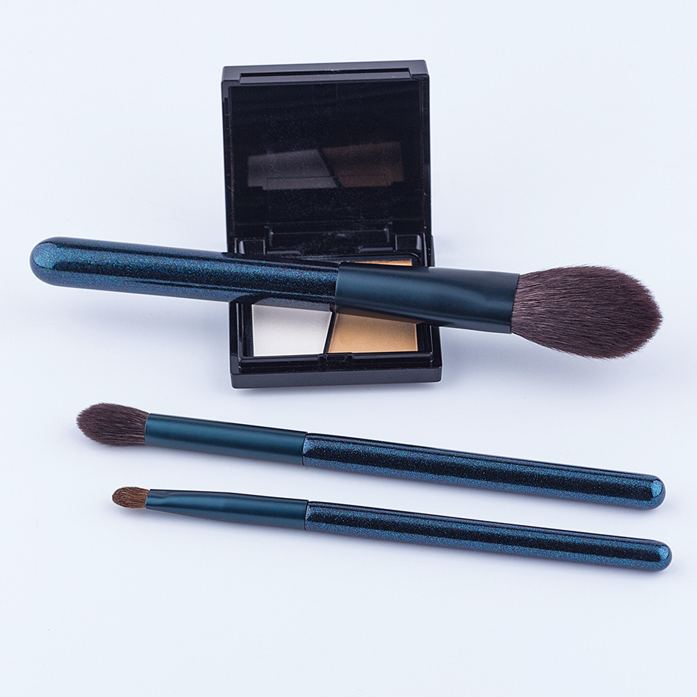 High-end professional makeup brushes set 9pcs dense soft natural hair blush contour powder foundation makeup brushes with brand