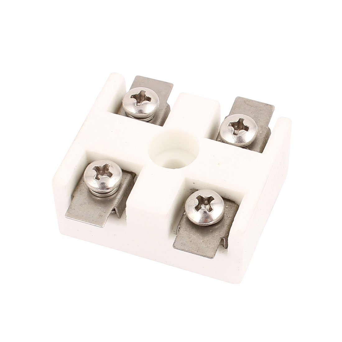 uxcell 30A 2 Way 5 Hole 2W5H High Temperature Ceramic Terminal Block Wire Connector