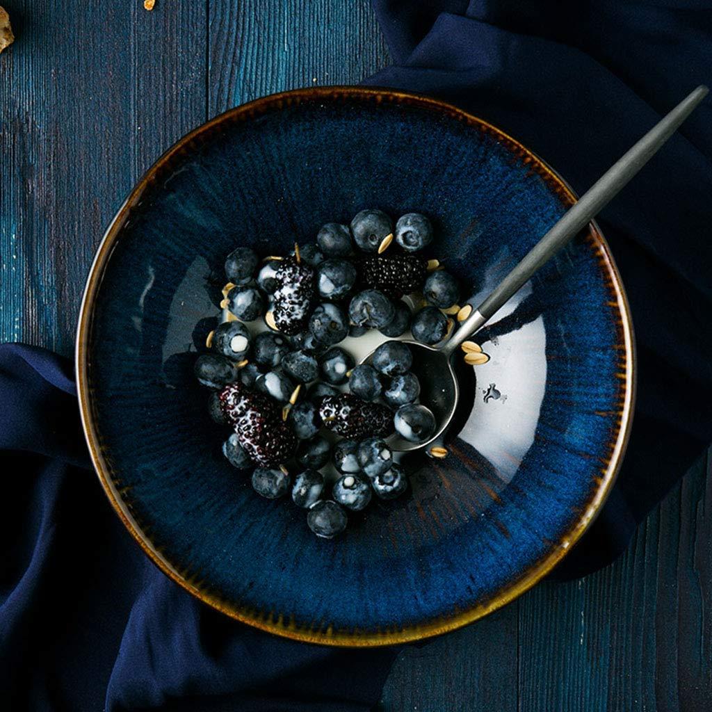 Noodle Bowls Ceramic Pasta Bowls Rice Bowls Japanese style Soup Bowls Bowls blue glaze
