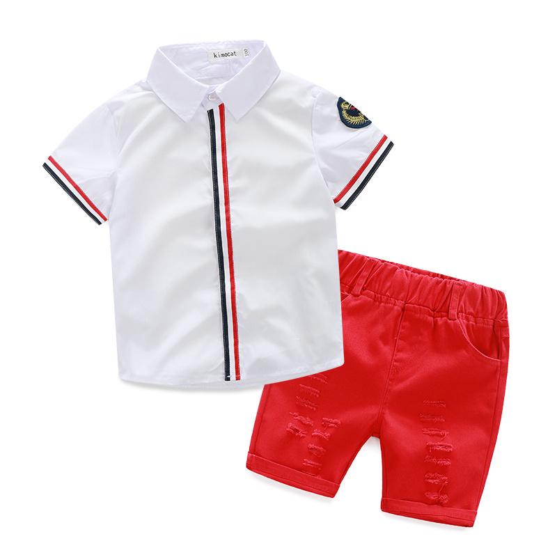 2015 summer new children clothing boys sets sports suits T-shirt + shorts pants suits kids clothes