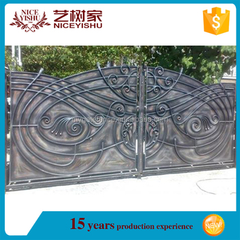 Double Swing Electric Laser Cut Custom Gate And Fence,Iron Gate  Models,Smanll Iron Entry Gates - Buy Electric Laser Cut Custom Gate And  Fence,Double