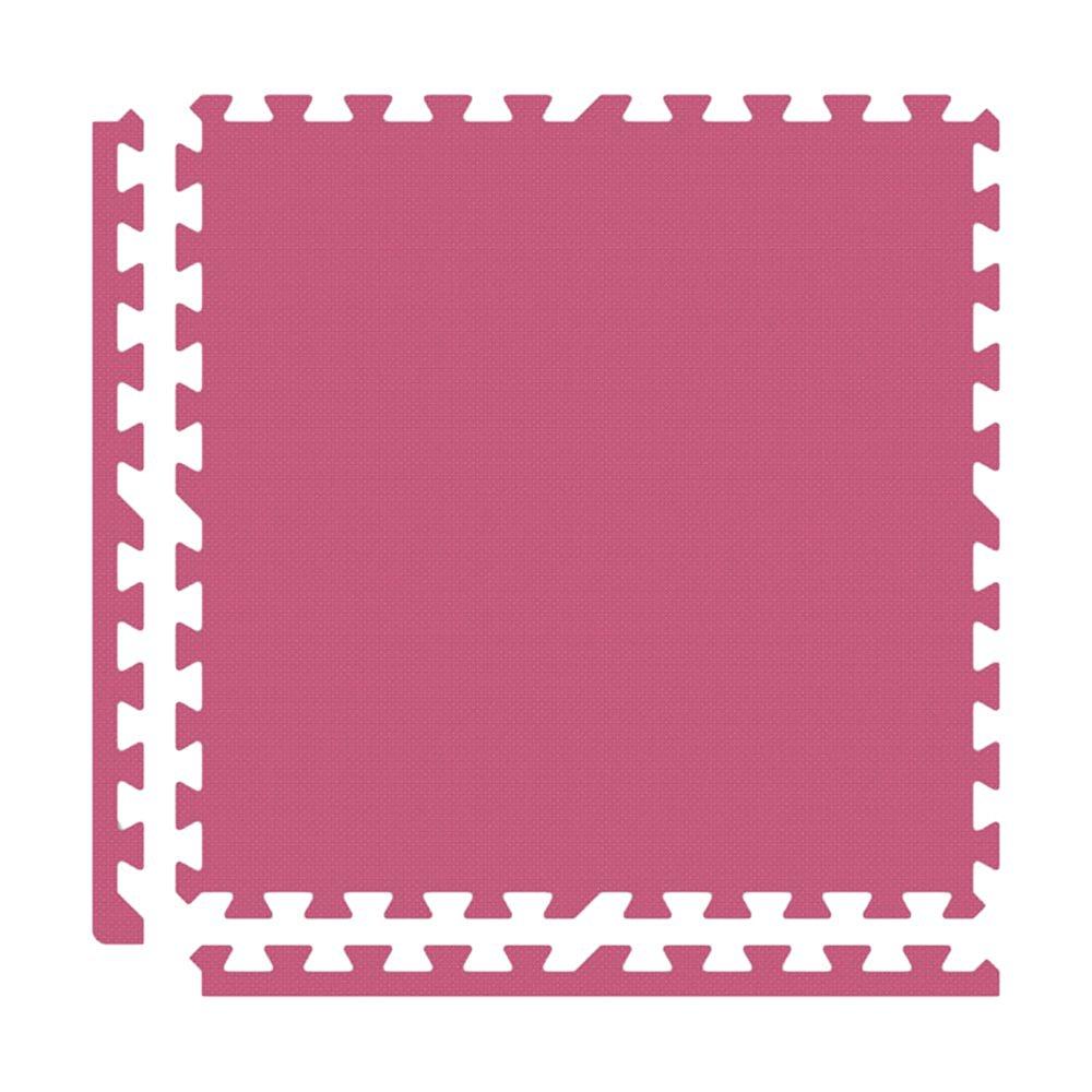 Alessco EVA Foam Rubber Interlocking Premium Soft Floors 16' x 16' Set Pink
