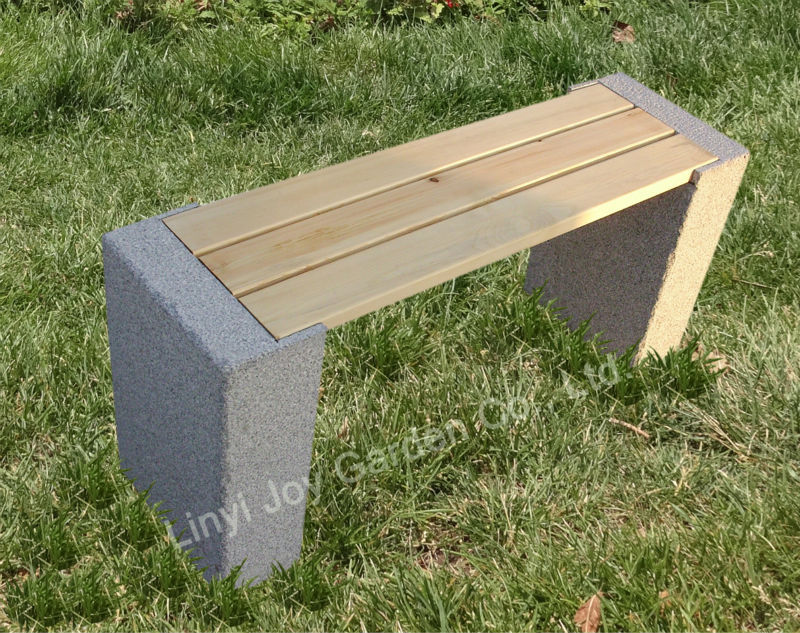 Hot Sale Granite Wooden Garden Bench, Outdoor Furniture, Garden Furniture