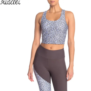 Allover Animal Print Gym Yoga Clothing Women Crop Top and Leggings Sets