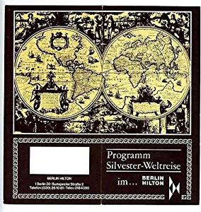 1975-76 New Years Special Menus Brochure Berlin Hilton Hotel Berlin Germany
