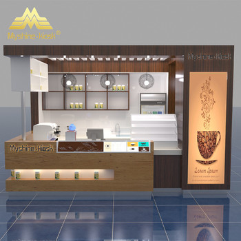 Ping Mall Solid Wood Coffee Counter For