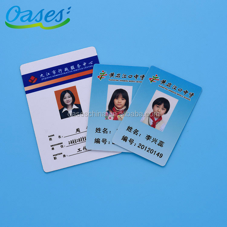 Low Price Plastic Pvc School Student Photo Id Card Design Format Printing By Printers