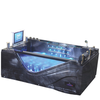 HS-B313 hot sale whirlool acrylic bathtub with tv,sex massage function tub