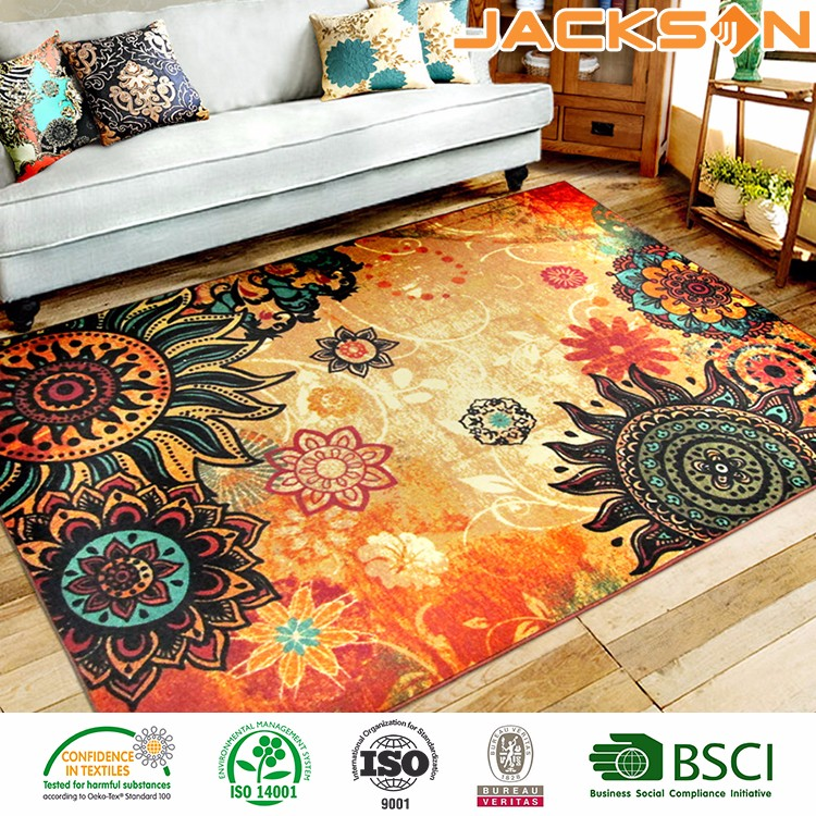 Retro Design Rugs 5 Feet x 7 Feet- Area Rug Modern Carpet