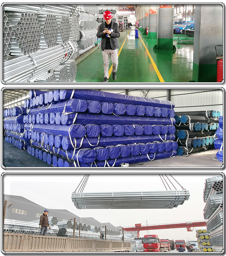 high quality  galvanized steel pipes scaffolding pipe thickness 2 mm