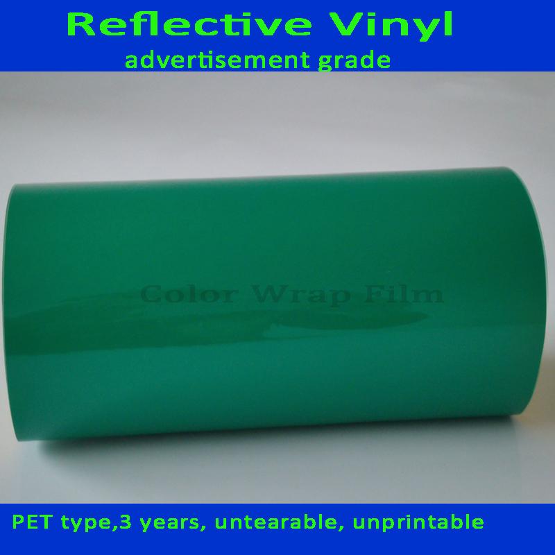 1.3 * 50 ярд светоотражающие зеленый винил отражающий лист