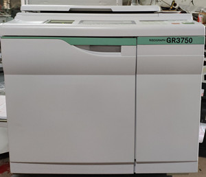 RISOs GR3750 digital duplicator,A3 used copyprinter on sale