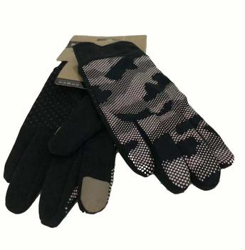 Hot Sale  Adult Custom Bicycling riding motorbike Gloves for touch screen palm with silicone dot