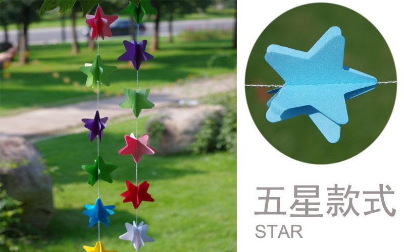 Coloré étoile Coeur Rond Fleur Papillon Suspendu En Forme De Papier
