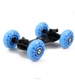 DSLR camera photography rail track slider 4 wheel table dolly car