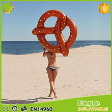 "55"" Giant Pretzel Twist Float Raft Inflatable Bread Swimming Pool ring Floating Lounger seat Water Tube"