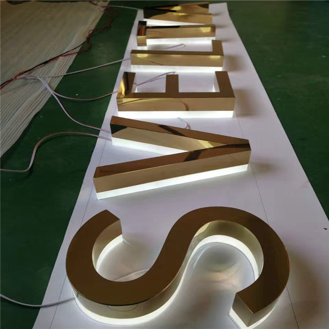 Factory good price outdoor advertising signages back lighted sign letters