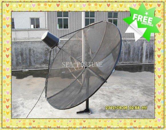 c band 165cm polar mount mesh satellite dish prime focus antenna primary focus dish. Black Bedroom Furniture Sets. Home Design Ideas