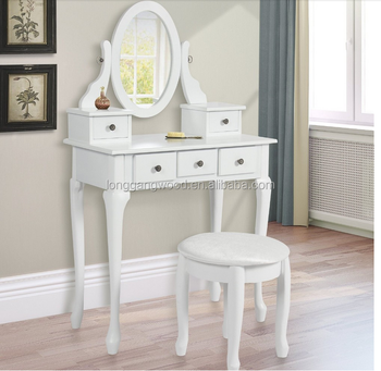 White Beautiful Design Vanity Girls Makeup Table With